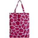 SKIN1 WHITE MARBLE & PINK DENIM (R) Zipper Classic Tote Bag View1