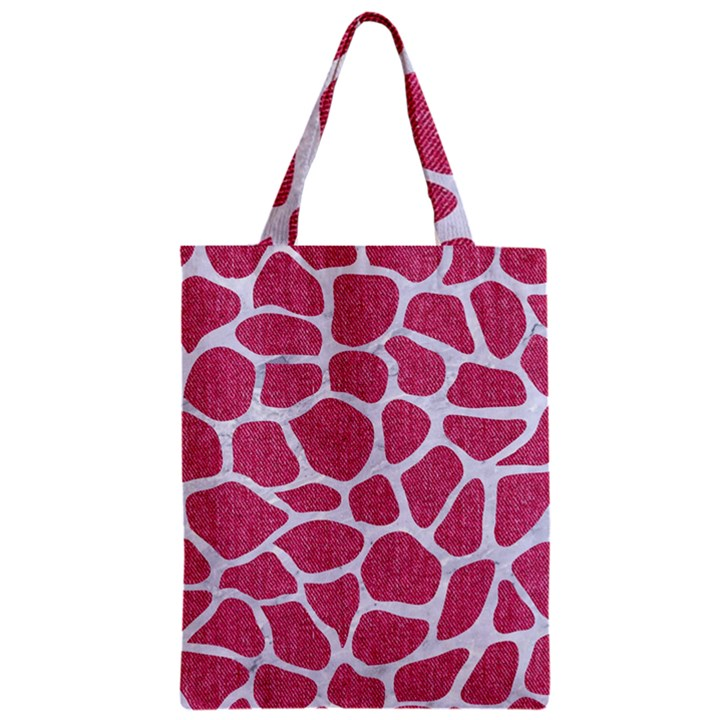 SKIN1 WHITE MARBLE & PINK DENIM (R) Zipper Classic Tote Bag