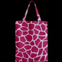 SKIN1 WHITE MARBLE & PINK DENIM (R) Zipper Classic Tote Bag View2