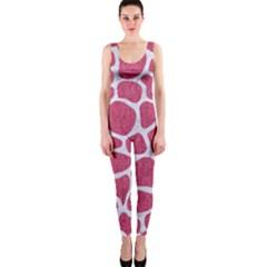 Skin1 White Marble & Pink Denim (r) One Piece Catsuit by trendistuff