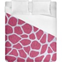 SKIN1 WHITE MARBLE & PINK DENIM (R) Duvet Cover (California King Size) View1