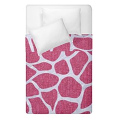 Skin1 White Marble & Pink Denim (r) Duvet Cover Double Side (single Size)