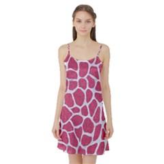 Skin1 White Marble & Pink Denim (r) Satin Night Slip