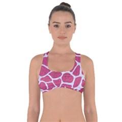 Skin1 White Marble & Pink Denim (r) Got No Strings Sports Bra by trendistuff