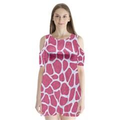 Skin1 White Marble & Pink Denim (r) Shoulder Cutout Velvet One Piece by trendistuff