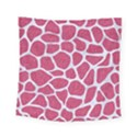 SKIN1 WHITE MARBLE & PINK DENIM (R) Square Tapestry (Small) View1