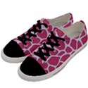 SKIN1 WHITE MARBLE & PINK DENIM (R) Men s Low Top Canvas Sneakers View2