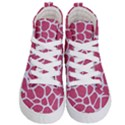 SKIN1 WHITE MARBLE & PINK DENIM (R) Kid s Hi-Top Skate Sneakers View1