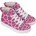 SKIN1 WHITE MARBLE & PINK DENIM (R) Kid s Hi-Top Skate Sneakers View3