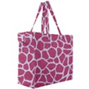SKIN1 WHITE MARBLE & PINK DENIM (R) Canvas Travel Bag View3