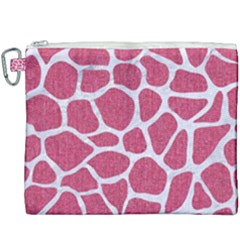 SKIN1 WHITE MARBLE & PINK DENIM (R) Canvas Cosmetic Bag (XXXL)