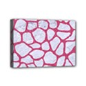 SKIN1 WHITE MARBLE & PINK DENIM Mini Canvas 7  x 5  View1
