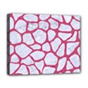 SKIN1 WHITE MARBLE & PINK DENIM Deluxe Canvas 20  x 16   View1