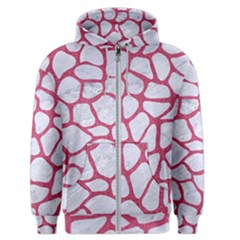 Skin1 White Marble & Pink Denim Men s Zipper Hoodie