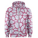 SKIN1 WHITE MARBLE & PINK DENIM Men s Zipper Hoodie View1