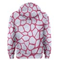 SKIN1 WHITE MARBLE & PINK DENIM Men s Zipper Hoodie View2