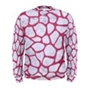 SKIN1 WHITE MARBLE & PINK DENIM Men s Sweatshirt View1