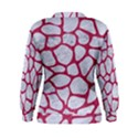 SKIN1 WHITE MARBLE & PINK DENIM Women s Sweatshirt View2