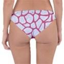 SKIN1 WHITE MARBLE & PINK DENIM Reversible Hipster Bikini Bottoms View4