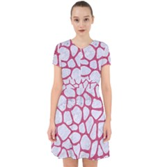 Skin1 White Marble & Pink Denim Adorable In Chiffon Dress