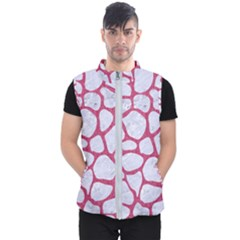 Skin1 White Marble & Pink Denim Men s Puffer Vest