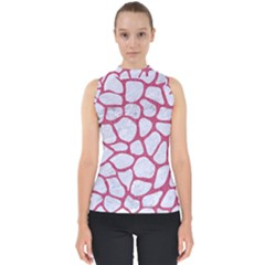 Skin1 White Marble & Pink Denim Shell Top