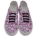 SKIN1 WHITE MARBLE & PINK DENIM Men s Classic Low Top Sneakers View1