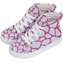 SKIN1 WHITE MARBLE & PINK DENIM Kid s Hi-Top Skate Sneakers View2