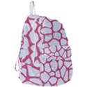 SKIN1 WHITE MARBLE & PINK DENIM Foldable Lightweight Backpack View3