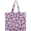 SKIN1 WHITE MARBLE & PINK DENIM Canvas Travel Bag View1