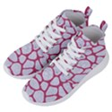 SKIN1 WHITE MARBLE & PINK DENIM Women s Lightweight High Top Sneakers View2