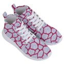 SKIN1 WHITE MARBLE & PINK DENIM Women s Lightweight High Top Sneakers View3