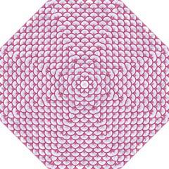 Scales3 White Marble & Pink Denim (r) Hook Handle Umbrellas (large)