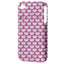 SCALES3 WHITE MARBLE & PINK DENIM (R) Apple iPhone 4/4S Hardshell Case (PC+Silicone) View3