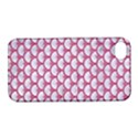 SCALES3 WHITE MARBLE & PINK DENIM (R) Apple iPhone 4/4S Hardshell Case with Stand View1