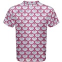 SCALES3 WHITE MARBLE & PINK DENIM (R) Men s Cotton Tee View1