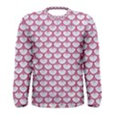SCALES3 WHITE MARBLE & PINK DENIM (R) Men s Long Sleeve Tee View1