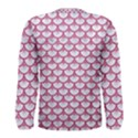 SCALES3 WHITE MARBLE & PINK DENIM (R) Men s Long Sleeve Tee View2