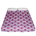 SCALES3 WHITE MARBLE & PINK DENIM (R) Fitted Sheet (Queen Size) View1