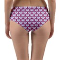 SCALES3 WHITE MARBLE & PINK DENIM (R) Reversible Mid-Waist Bikini Bottoms View2