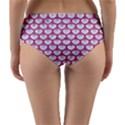 SCALES3 WHITE MARBLE & PINK DENIM (R) Reversible Mid-Waist Bikini Bottoms View4