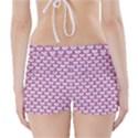 SCALES3 WHITE MARBLE & PINK DENIM (R) Boyleg Bikini Wrap Bottoms View2
