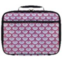 SCALES3 WHITE MARBLE & PINK DENIM (R) Full Print Lunch Bag View1