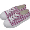 SCALES3 WHITE MARBLE & PINK DENIM (R) Kids  Low Top Canvas Sneakers View2