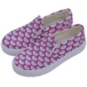 SCALES3 WHITE MARBLE & PINK DENIM (R) Kids  Canvas Slip Ons View2