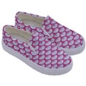SCALES3 WHITE MARBLE & PINK DENIM (R) Kids  Canvas Slip Ons View3