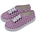 SCALES3 WHITE MARBLE & PINK DENIM (R) Kids  Classic Low Top Sneakers View2