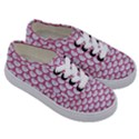 SCALES3 WHITE MARBLE & PINK DENIM (R) Kids  Classic Low Top Sneakers View3