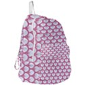 SCALES3 WHITE MARBLE & PINK DENIM (R) Foldable Lightweight Backpack View3