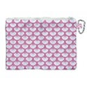 SCALES3 WHITE MARBLE & PINK DENIM (R) Canvas Cosmetic Bag (XL) View2